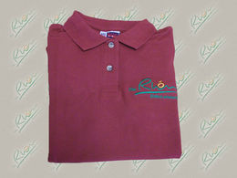 Damen Polo-Shirt 'Die Rh&ouml;n' - Bordeaux