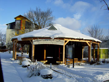 Gradierpavillon im Winter