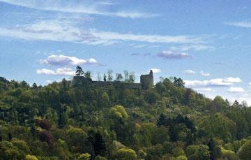 Ansicht  der Burgruine