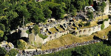 Luftbild Burgruine