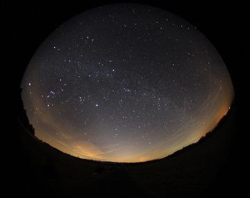 Zodiakallicht Westhimmel Rhön
