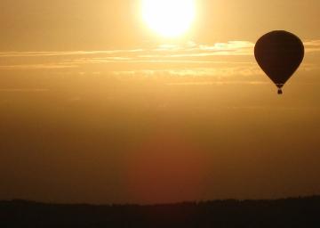Ballon Sonnenuntergang
