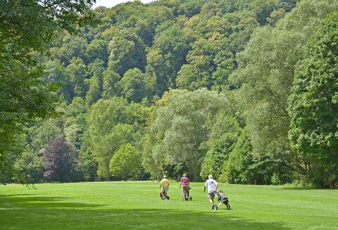 Bild:Golfer Golfplatz Bad Kissingen 1
