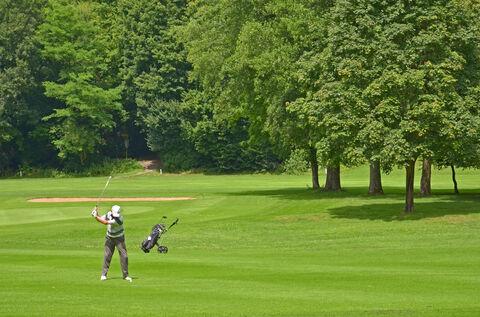 Bild:Golfer Golfplatz Bad Kissingen