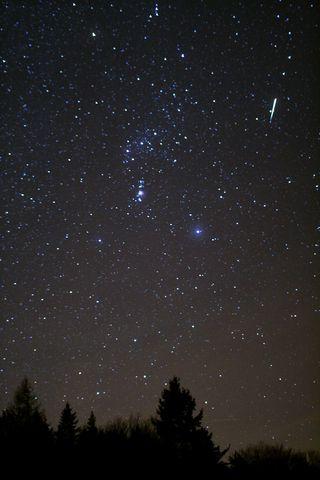 Sternschnuppe in der Langen Rhön von Andreas Hänel