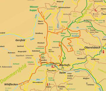 (1-7) Die Wildfleckener Drei-Gipfel-Tour Karte