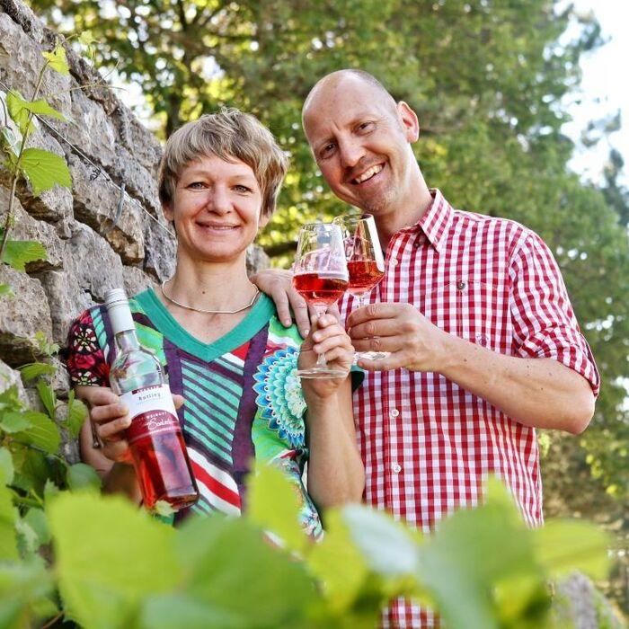 Thomas und Uli an der WeinMauer
