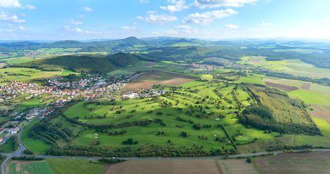 Bild:Golfplatz Hofbieber Luftaufnahme