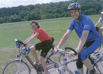 Th. K. Beck auf dem Fahrrad